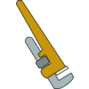 download Pipe Wrench clipart image with 45 hue color