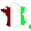 download Colored Map Of France clipart image with 135 hue color