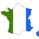 download Colored Map Of France clipart image with 225 hue color