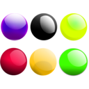 download Glossy Balls clipart image with 45 hue color
