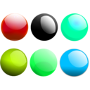 download Glossy Balls clipart image with 135 hue color