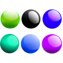 download Glossy Balls clipart image with 225 hue color