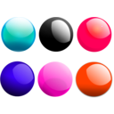 download Glossy Balls clipart image with 315 hue color