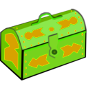 download Treasure Chest clipart image with 45 hue color