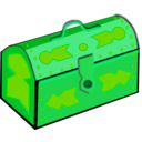 download Treasure Chest clipart image with 90 hue color