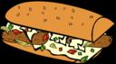 Fast Food Breakfast Sub Sandwich