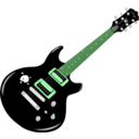 download Guitar clipart image with 90 hue color