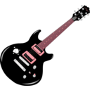 download Guitar clipart image with 315 hue color
