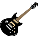 download Guitar clipart image with 0 hue color