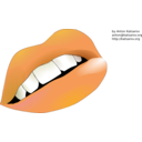 download Lips clipart image with 45 hue color