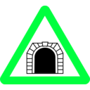 download Roadsign Tunnel clipart image with 135 hue color