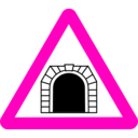 download Roadsign Tunnel clipart image with 315 hue color