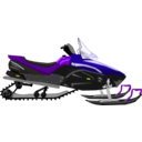 download Snowmobile clipart image with 45 hue color
