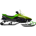 download Snowmobile clipart image with 225 hue color