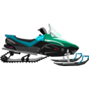 download Snowmobile clipart image with 315 hue color