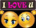 Love You Couple Smiley Emoticon