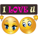 Love You Couple Smiley Emoticon