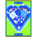 download Heart Of Roses clipart image with 225 hue color