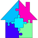 download Puzzle House clipart image with 135 hue color