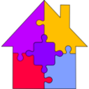 download Puzzle House clipart image with 225 hue color