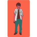 download Teenager clipart image with 315 hue color