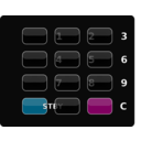 download Glossy Black Keypad clipart image with 315 hue color