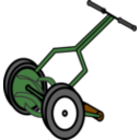 Cartoon Push Reel Lawn Mower