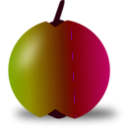 download Red And Green Apple clipart image with 315 hue color