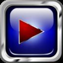 Icon Blue Multimedia Play