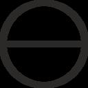 Circle With Horizontal Diameter