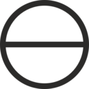 Circle With Horizontal Diameter