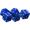 download Five Red Dice clipart image with 225 hue color
