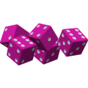 download Five Red Dice clipart image with 315 hue color
