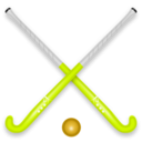 download Hockey Stick Ball clipart image with 45 hue color