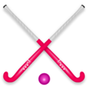 download Hockey Stick Ball clipart image with 315 hue color