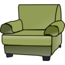 download Armchair clipart image with 225 hue color