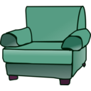 download Armchair clipart image with 315 hue color