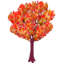 download Tree In Autumn clipart image with 315 hue color