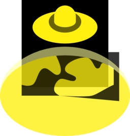 Yellow Black Ufo Over Planet 16px Icon