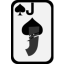 download Jack Of Spades clipart image with 315 hue color