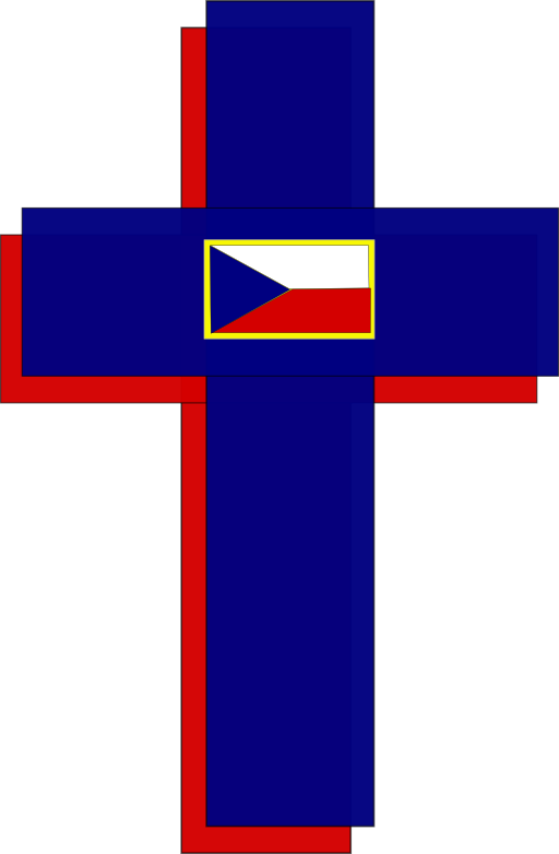 Cross And Czech Flag Clipart   i2Clipart - Royalty Free ...