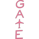 download Gate clipart image with 315 hue color