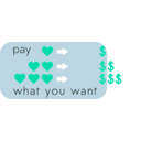 download Pay What You Want clipart image with 135 hue color