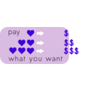 download Pay What You Want clipart image with 225 hue color