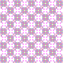 Floral Chess Pattern
