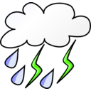 download Weather Symbols Storm clipart image with 45 hue color