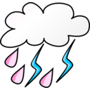 download Weather Symbols Storm clipart image with 135 hue color