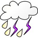 download Weather Symbols Storm clipart image with 225 hue color