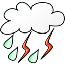download Weather Symbols Storm clipart image with 315 hue color