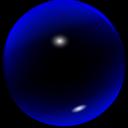 Glass Blue Ball
